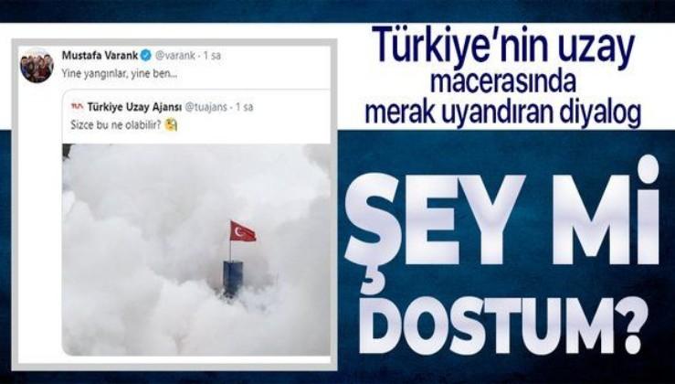 """Türkiye Uzay Ajansı """"Sizce bu ne olabilir?"""" diye sordu... Bakan Varank, """"Yine yangınlar yine ben"""" diyerek yanıtladı"""