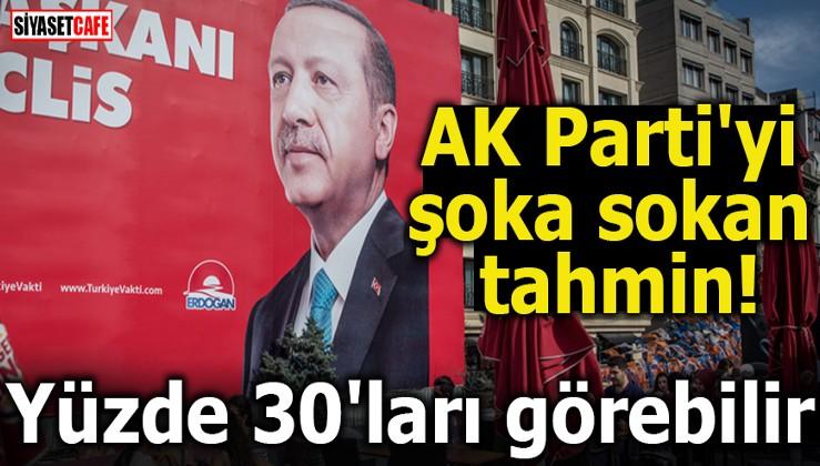 AKP'yi şoka sokan tahmin! Yüzde 30'ları görebilir
