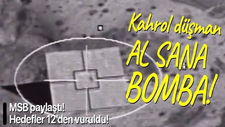 Hedefler 12'den vuruldu: Teber güdüm kitli bombalar düşmanın korkulu rüyası olacak!