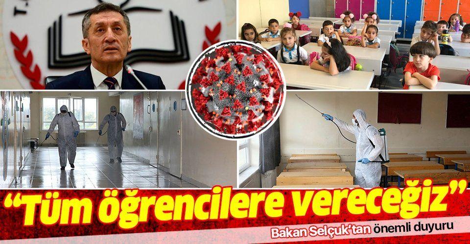 Son dakika: Milli Eğitim Bakanı Ziya Selçuk koronavirüs tedbirlerini duyurdu
