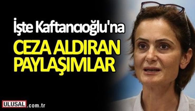 İşte CHP İstanbul İl Başkanı Canan Kaftancıoğlu'na ceza aldıran paylaşımlar