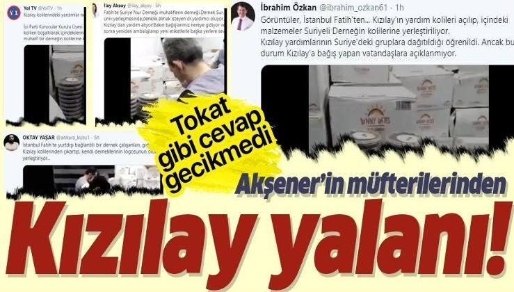 Türk Kızılay'ından İYİ Parti'nin alçak iftirasına yanıt: Bizi insanlığa hizmet etmekten alıkoyamayacaktır