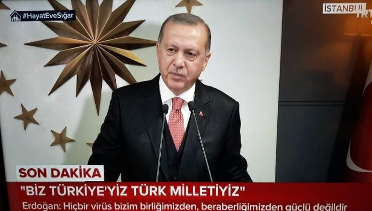 """Cumhurbaşkanı Erdoğan: """"Biz Türk milletiyiz, hiçbir virüs bizim birliğimizden, beraberliğimizden daha güçlü değildir."""""""