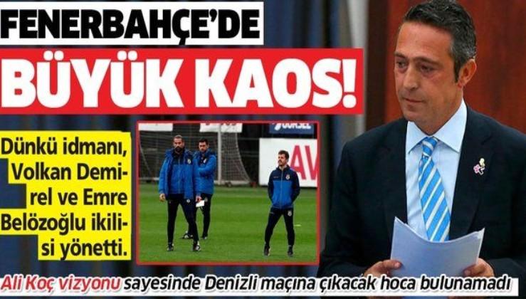 Fenerbahçe Ali Koç vizyonu sayesinde Denizli maçına çıkacak hoca bulamıyor!