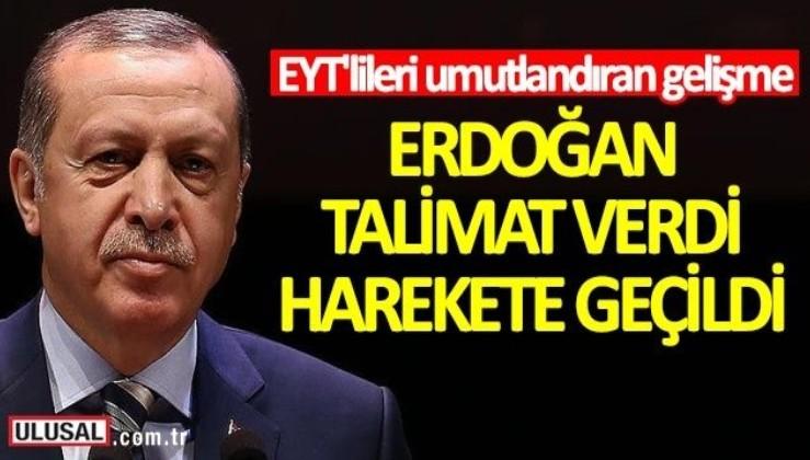 EYT'lileri umutlandıran gelişme! Erdoğan talimat verdi, harekete geçildi