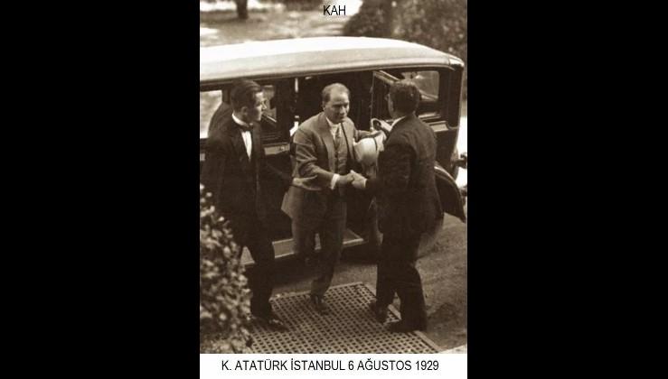 Mustafa Kemal Atatürk'ün Haydarpaşa Garı'nda karşılanışı. (06.08.1929)