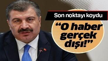 """Son dakika: Sağlık Bakanı Fahrettin Koca: """"MSÜ sınavında 400 öğrenciye hastalık bulaştığı haberi gerçek dışıdır"""""""