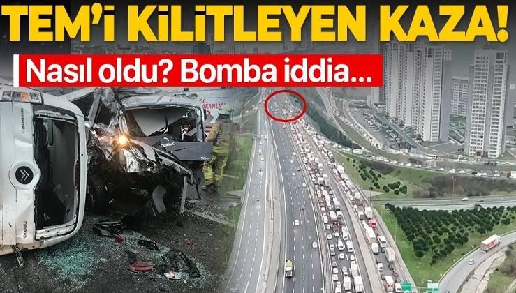 SON DAKİKA: TEM Mahmutbey yönünde feci kaza: 12 araç birbirine girdi