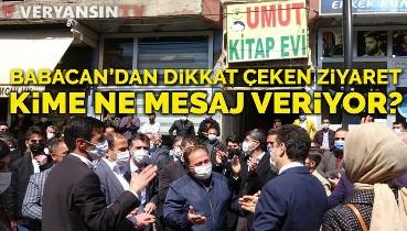 Ali Babacan'dan Şemdinli'de çok dikkat çeken ziyaret... Kime ne mesaj veriyor?