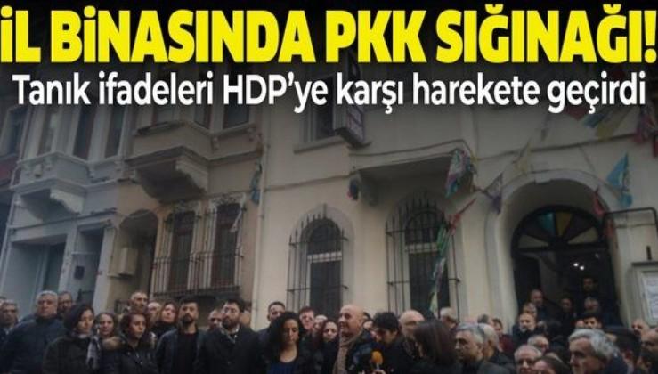 HDP İstanbul İl Binası'nda PKK sığınağı! Harekete geçildi