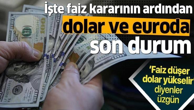 Merkez Bankası'nın faiz kararının ardından dolar ve euro ne kadar oldu? Dolar ve euro fiyatı.