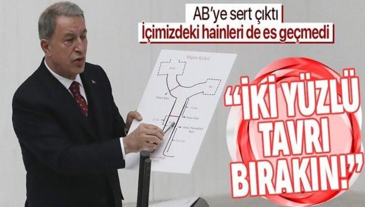 Milli Savunma Bakanı Hulusi Akar'dan flaş Gara açıklaması: İçimizdeki ve dışarıdaki bazı gafil ve hainler...
