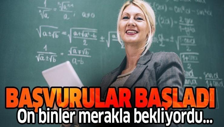 Son dakika: 20 bin sözleşmeli öğretmen kadrosu için başvurular başladı | MEB 2020 sözleşmeli öğretmen alımı başvuru sayfası