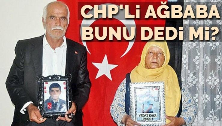 CHP'li Ağbaba, HDP önünde nöbet tutan aileye bunu dedi mi?