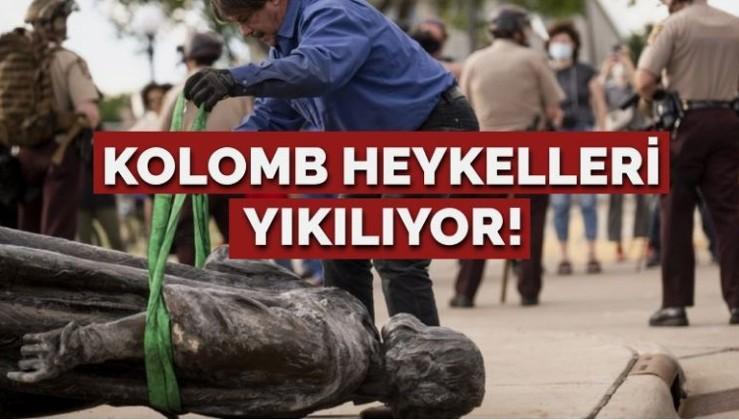 ABD'de Kolomb heykelleri yıkılıyor