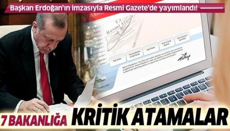 SON DAKİKA: Bakanlıklar ve bazı kurumlara atama kararları Resmi Gazete'de