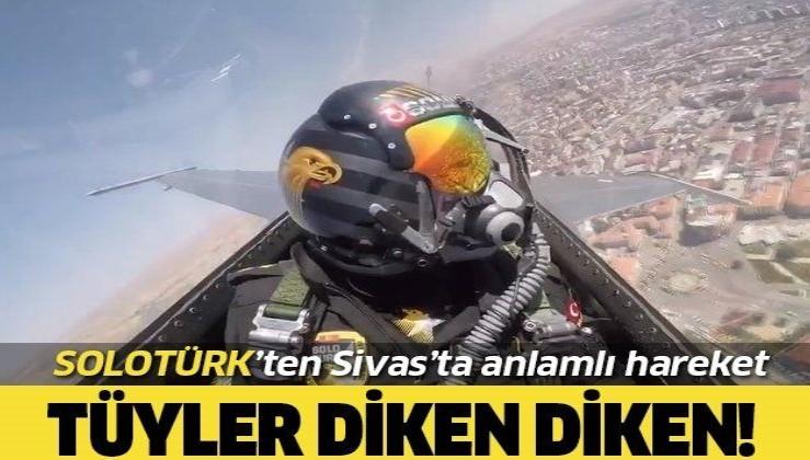 SOLOTÜRK ekibi Sivas'ta saygı ve selamlama uçuşu yaptı
