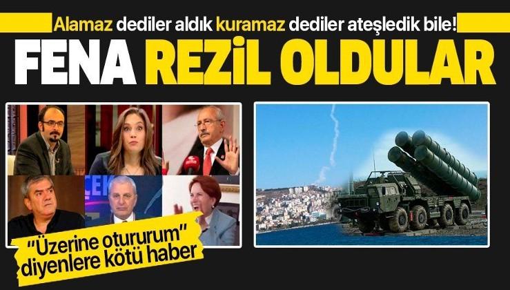 """""""Türkiye S-400'leri aktif edemez"""" diyenler yine rezil oldu! Ateşledik bile..."""