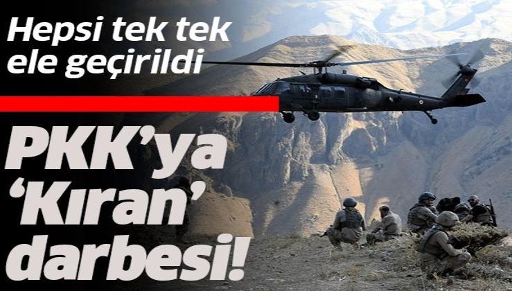 Kıran Operasyonu'nda terör örgütüne ağır darbe!