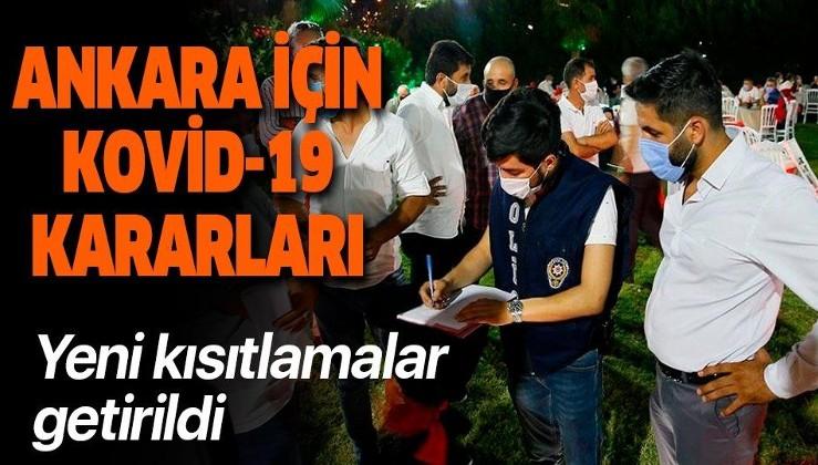 Son dakika: Ankara'da 65 yaş ve üzeri kronik hastalara kısıtlama getirildi