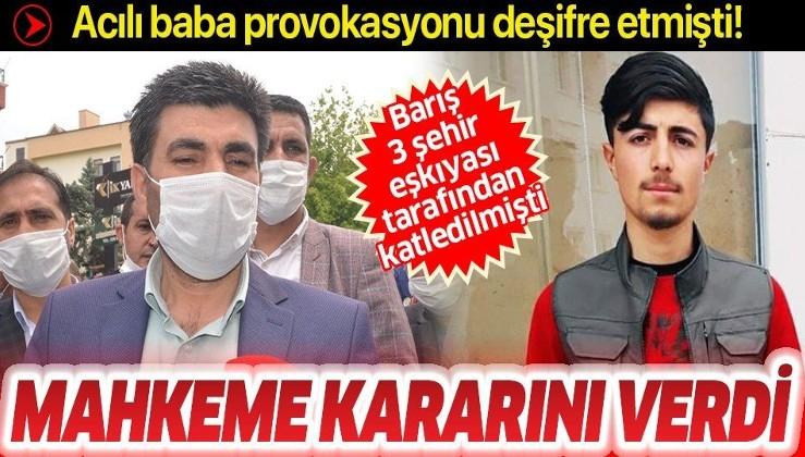 HDPKK kışkırtma peşindeydi! Son dakika: Barış Çakan'ı katleden 3 kişi tutuklandı!
