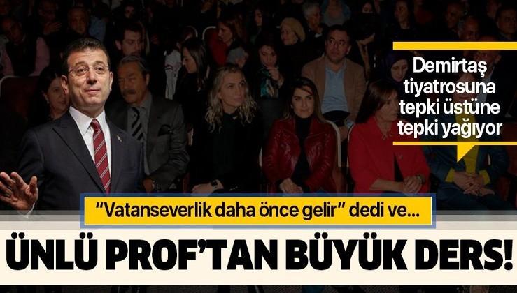 Ekrem İmamoğlu'na Demirtaş tiyatrosu tepkisi! Prof. Özden Zeynep Oktav protesto için unvanını sildi!