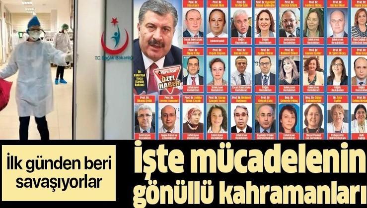 İşte Türkiye'nin koronavirüsle mücadelesinin gönüllü kahramanları!