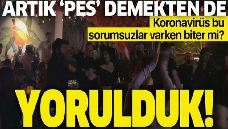 İstanbul Ortaköy'de pes dedirten görüntüler! Koronavirüs tedbirleri yine hiçe sayıldı!