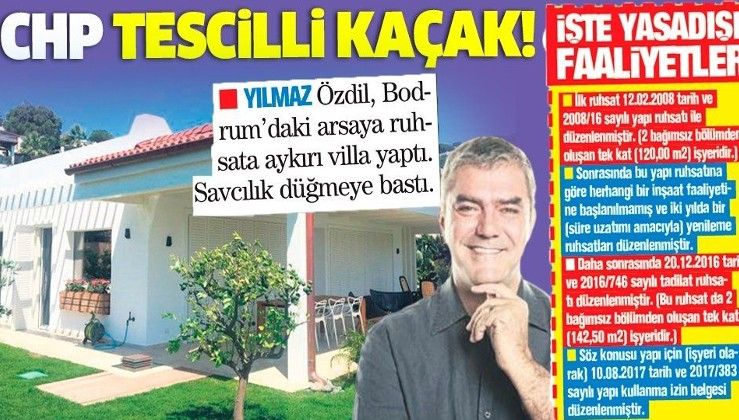 Yılmaz Özdil'in Bodrum'daki kaçak villasını CHP'li belediye de itiraf edip onayladı