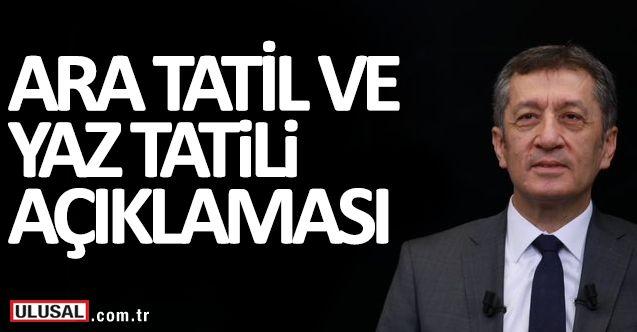 MEB Ziya Selçuk'tan yaz tatili ve okullarda ara tatiller ile ilgili açıklama