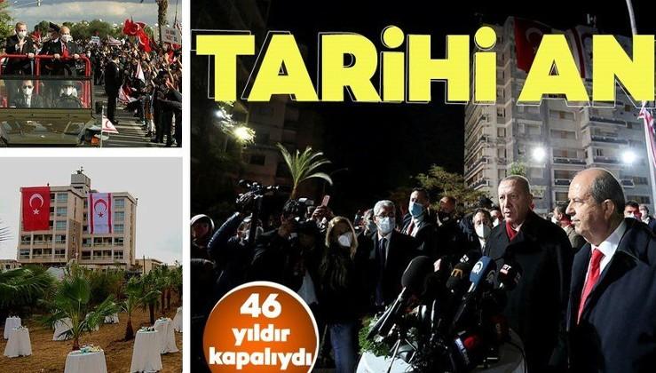 Cumhurbaşkanı Erdoğan ve Tatar'dan Maraş'ta ortak açıklama