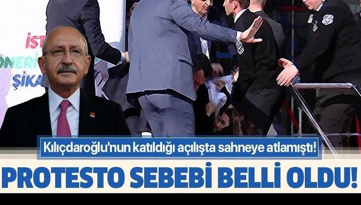 Kılıçdaroğlu'nun katıldığı açılışta sahneye atlamıştı! Protesto sebebi belli oldu!.