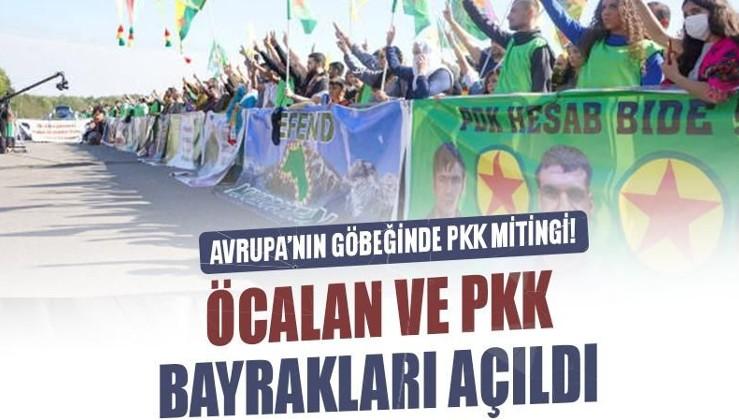 Avrupa'nın göbeğinde PKK mitingi