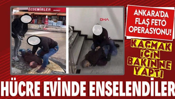 Ankara'da flaş FETÖ operasyonu! Firari eski emniyet müdürü hücre evinde yakalandı!