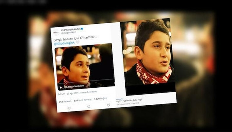 CHP Gençlik Kolları'nın videosu çalıntı çıktı