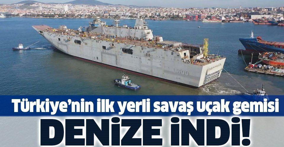 SON DAKİKA: İlk yerli savaş uçak gemisi TCG Anadolu denizde