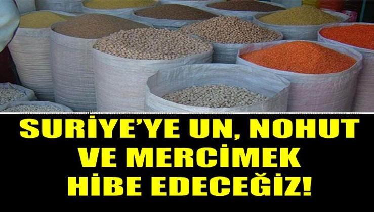Türkiye ihtiyaç sahibi ülkelere un ve bakliyat hibesinde bulunacak.