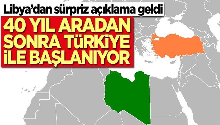 Türkiye-Libya arasında 40 yıl sonra bir ilk! Resmen başlıyor
