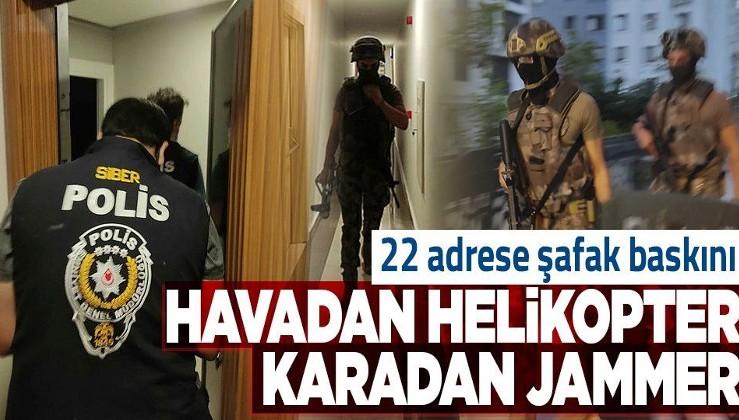 İstanbul genelinde havadan helikopter, karadan jammer destekli siber dolandırıcılık operasyonu!