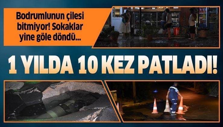 Bodrum'da ev ve iş yerlerini su bastı!