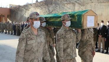 PKK'lı teröristlerin tuzakladığı patlayıcının infilak etmesi sonucu ölen çobanın cenazesi defnedildi