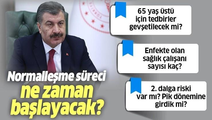 Sağlık Bakanı Fahrettin Koca: Pik dönemindeyiz! Düşüş trendine girdik