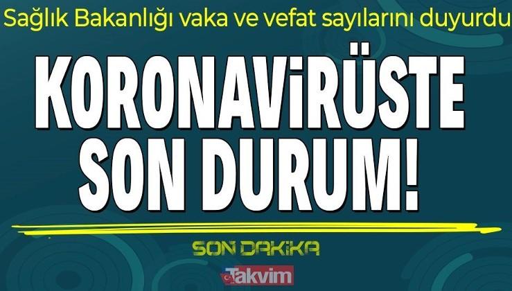 SON DAKİKA! 20 Ekim Koronavirüs tablosu açıklandı