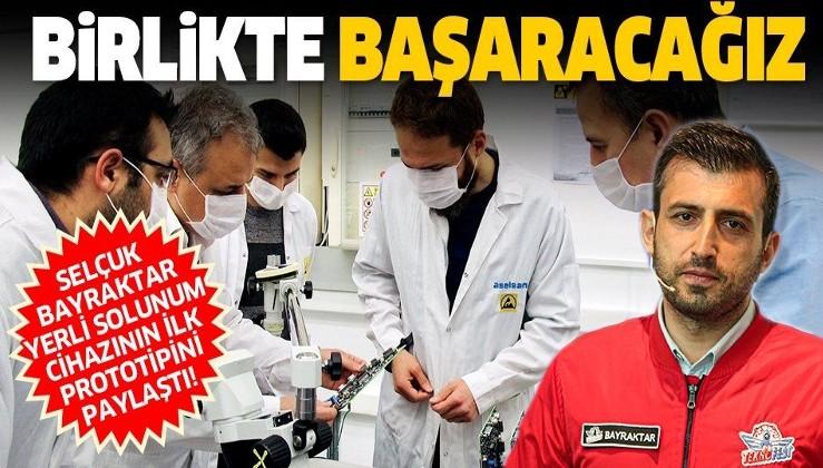 Son dakika: Selçuk Bayraktar, yerli solunum cihazının ilk prototipini paylaştı.