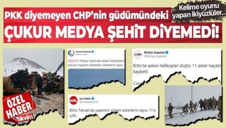 PKK diyemeyen CHP'nin güdümündeki çukur medya şehit diyemedi: Bitlis'teki kazayı tepki çeken başlıklarla duyurdular