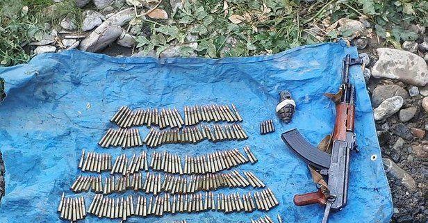 Son dakika: Van'da PKK'lı teröristlere ait silah ve mühimmat ele geçti