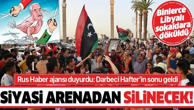 Libya'da halk kutlamalar için sokaklara döküldü: Darbeci Hafter ABD'ye kaçacak!