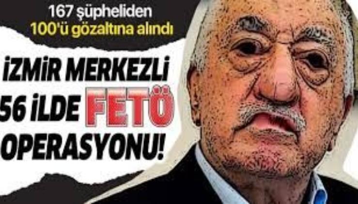 Son dakika: İzmir merkezli 56 ilde FETÖ'nün TSK yapılanmasına yönelik operasyon: 100 kişi gözaltına alındı
