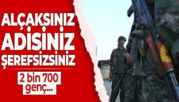 SON DAKİKA: Terör örgütü YPG/PKK Suriye'nin kuzeydoğusundaki Haseke'de bir ayda 2 bin 700 Arap gencini zorla alıkoydu