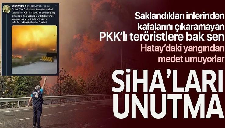 Terör örgütü PKK sempatizanları Hatay'daki yangın üzerinden reklam peşinde